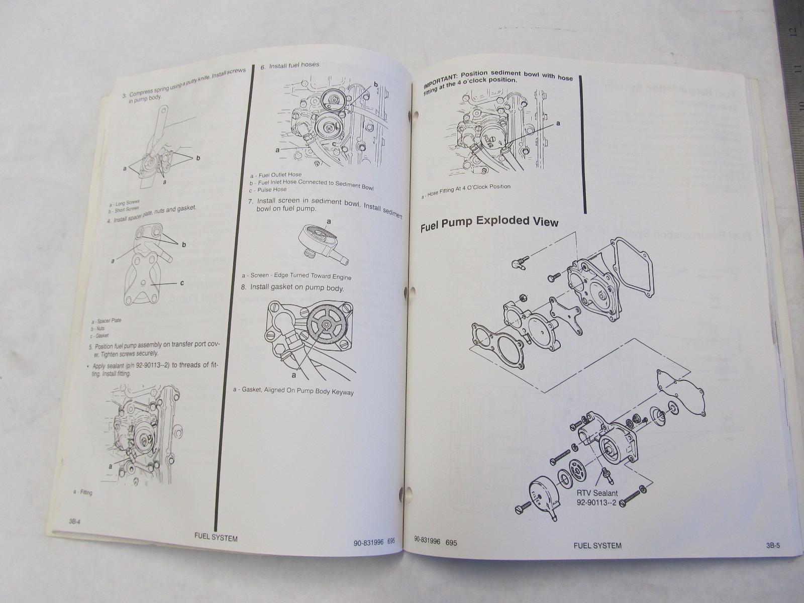 1995 Mercury Mariner Outboard Service Manual 90 95 120