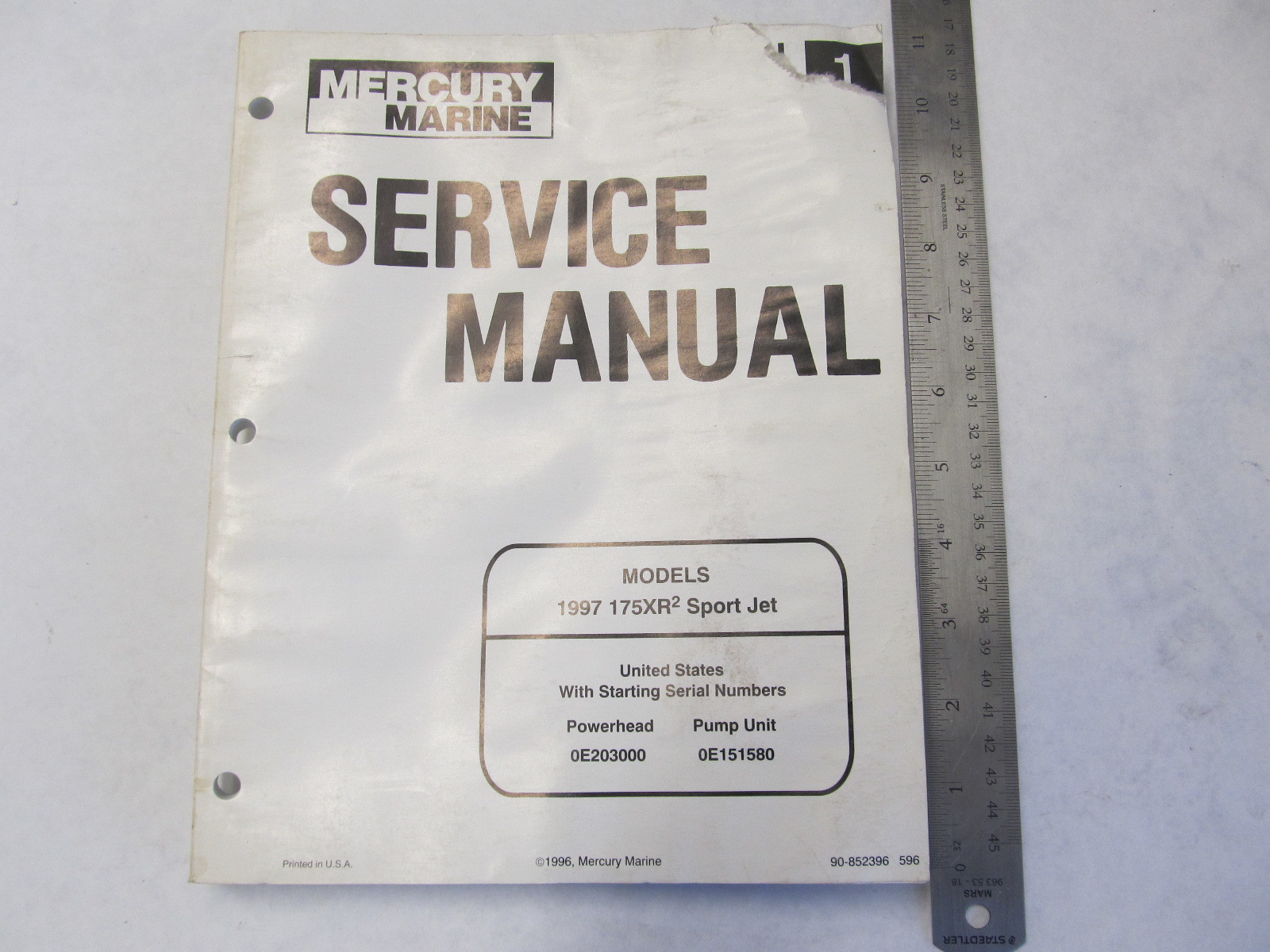 Mercury Sport Jet 175 Service Manual