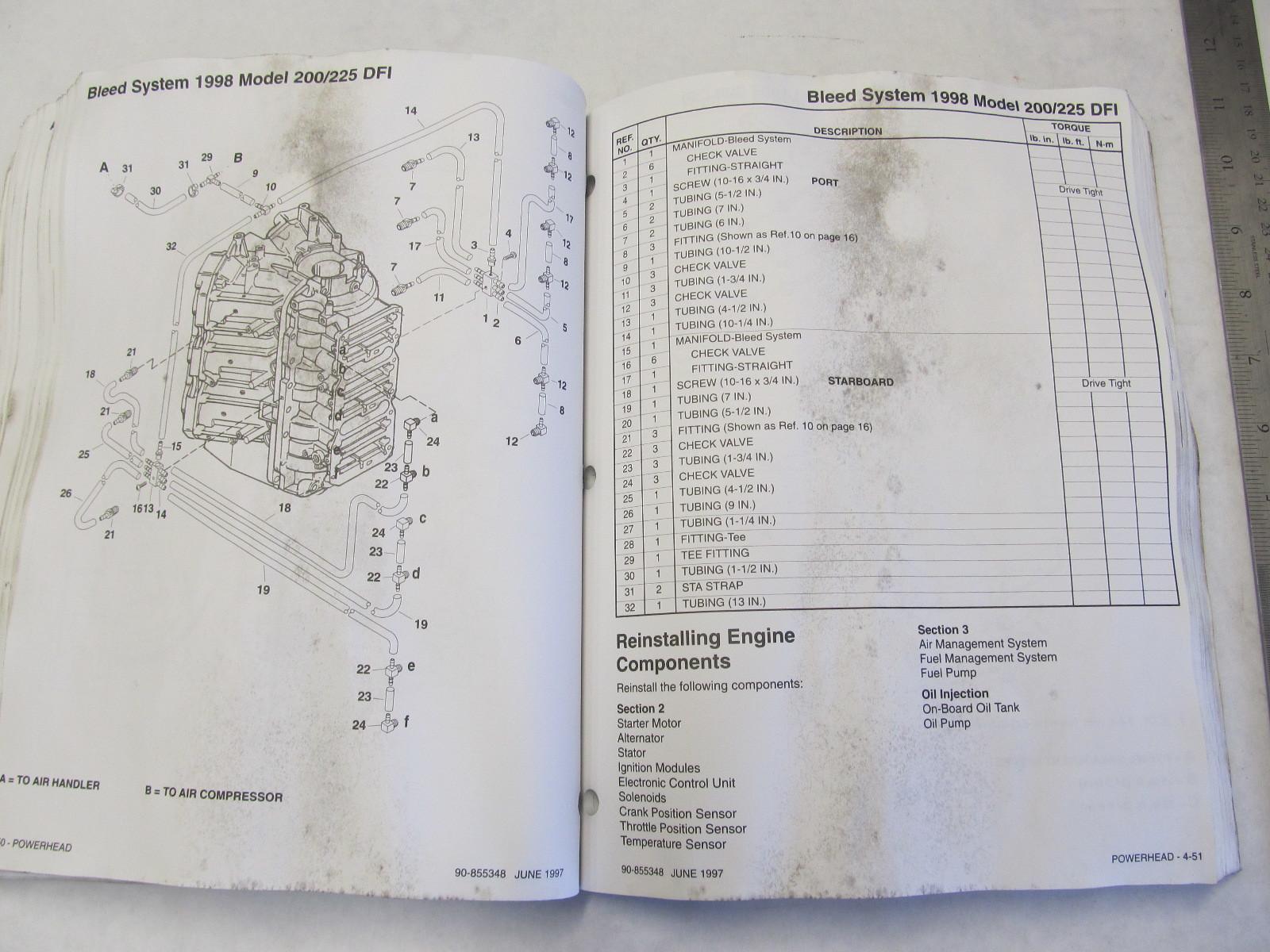 1997 Mercury Mariner Outboard Service Manual 200 225 Optimax