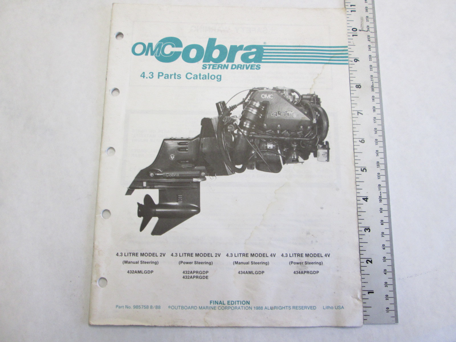 omc cobra stern drive 4 3l parts catalog 985758 green bay rh greenbayprop com omc cobra parts catalog omc sterndrive parts catalog