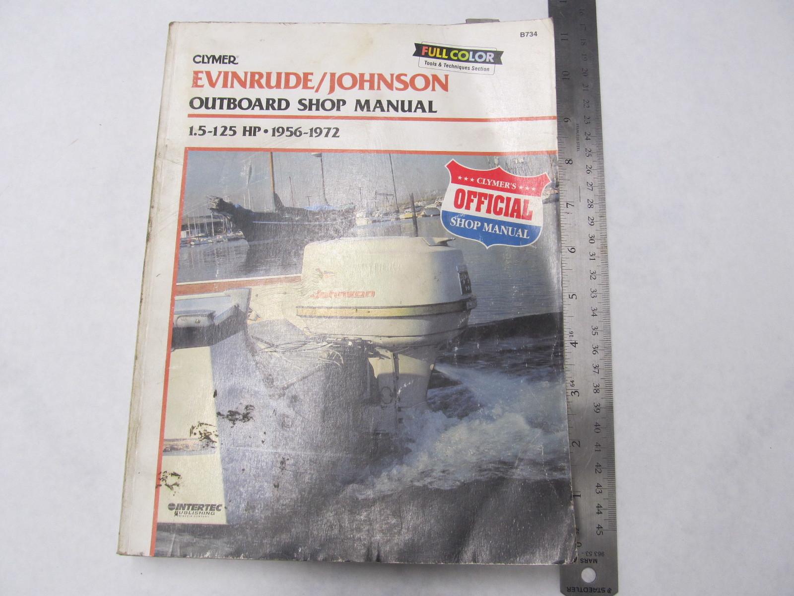 1956 1972 clymer evinrude johnson outboard shop manual 1 5. Black Bedroom Furniture Sets. Home Design Ideas