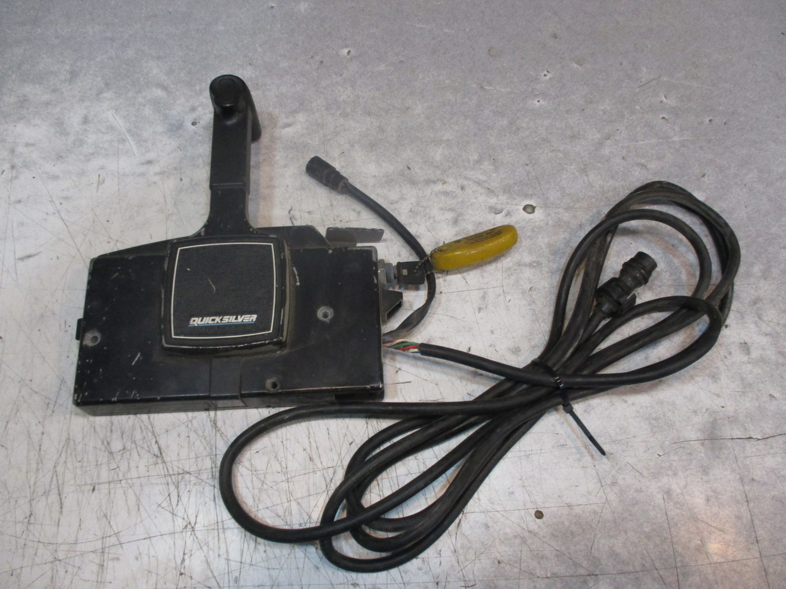 side mount remote mariner only quicksilver shifter 7 pin controls ebay