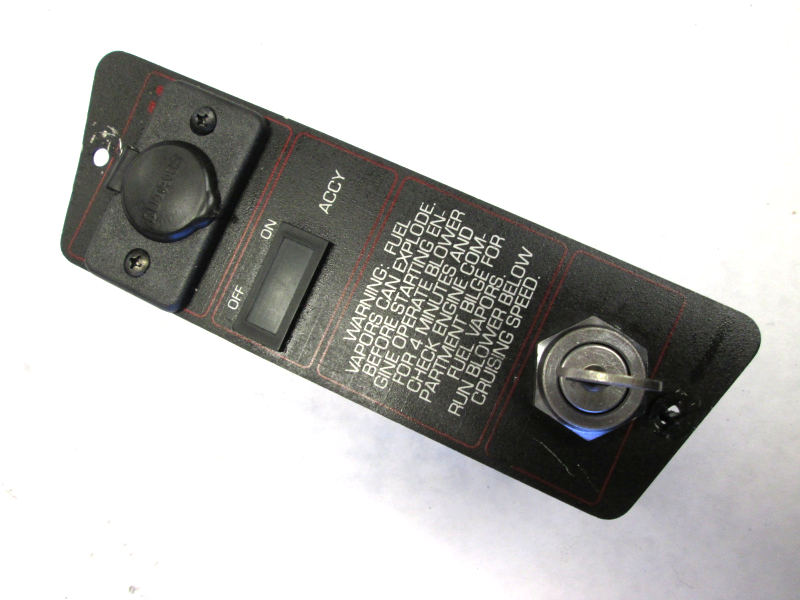 1989 bayliner capri boat dash ignition key switch panel. Black Bedroom Furniture Sets. Home Design Ideas