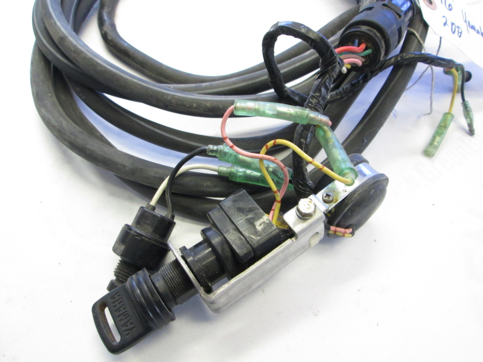yamaha outboard 16 ft engine to dash key switch wire harness to motor