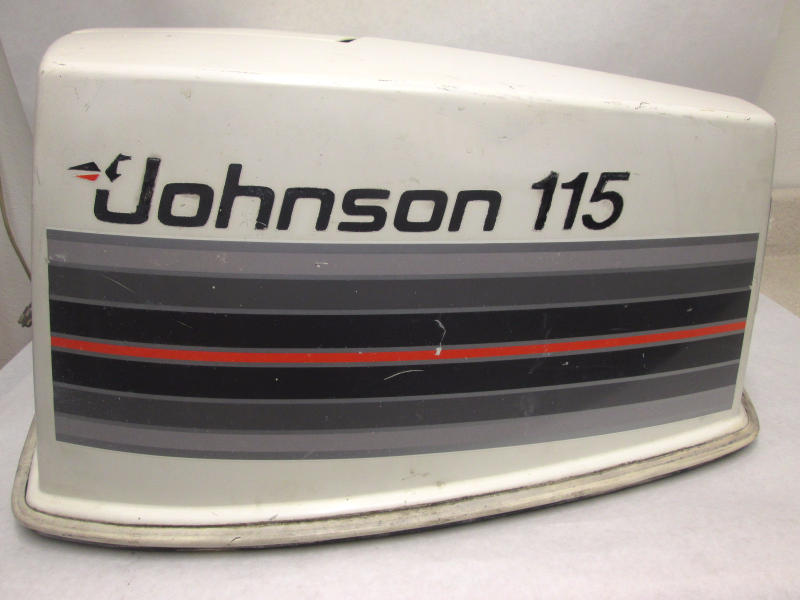 115hp v4 cowling top engine cover assy johnson evinrude for Boat motor covers johnson