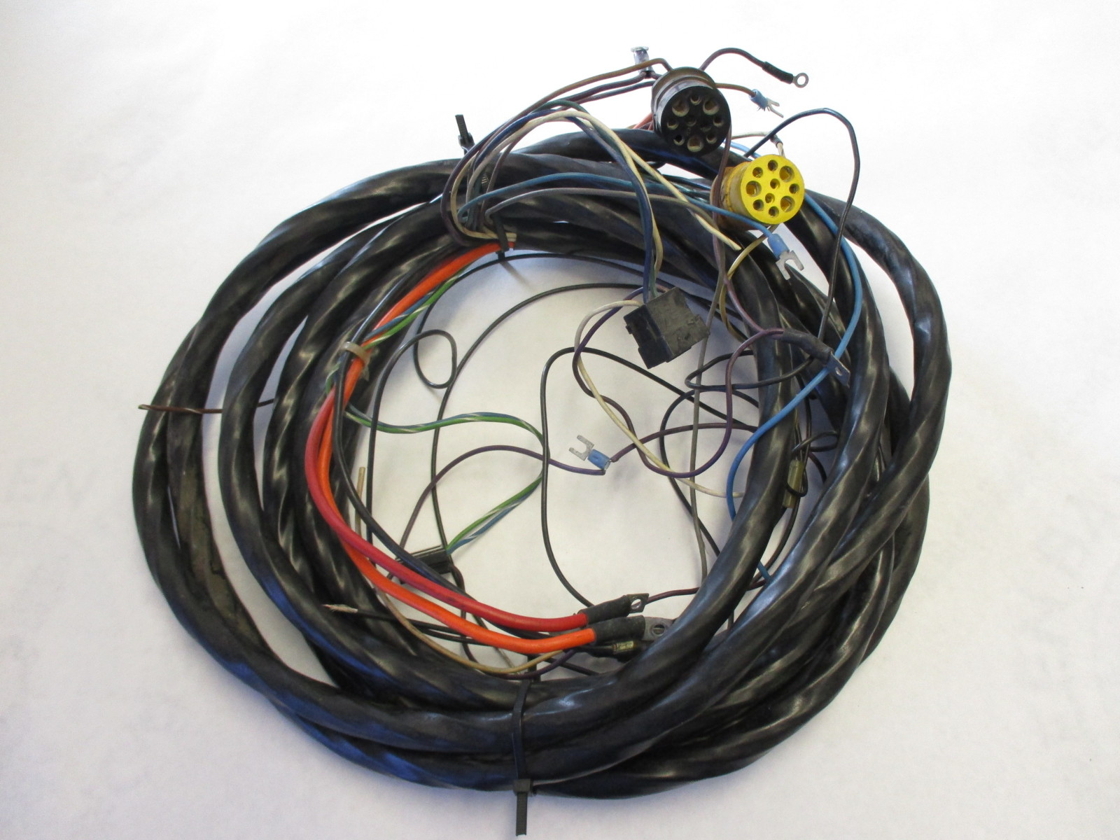 vintage 23 ft 8 inch engine to dash complete wire harness omc cruiser green bay propeller