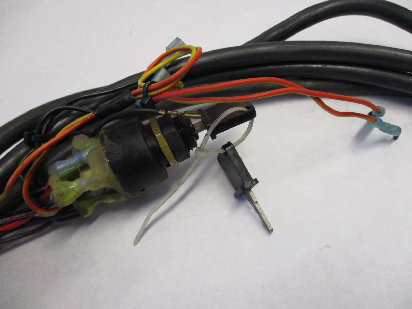 omc evinrude johnson 18 ft engine to dash key switch w key wire harness to motor