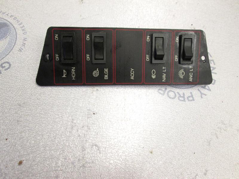 1989 Bayliner Capri Dash Panel W Switches Green Bay