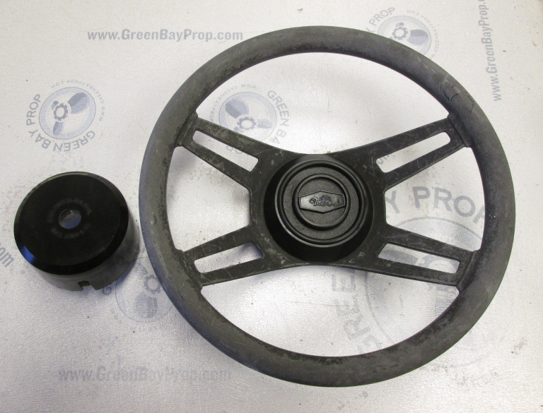 1987 Thompson Boat Steering Wheel 13.75 Inch dia. Tapered Shaft