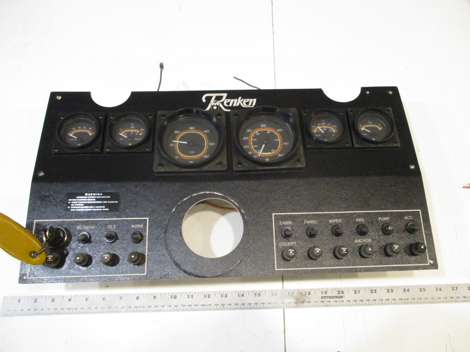Boat Instrument Panel : Renken boat dash panel gauges instrument cluster