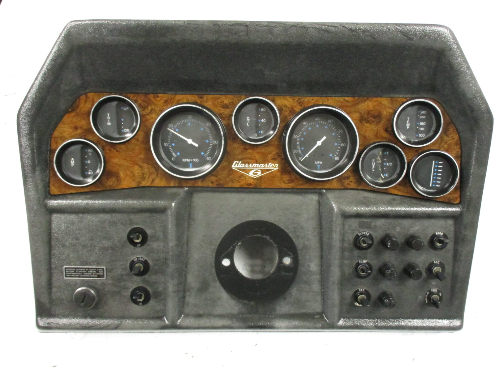 Boat Instrument Panel : Glassmaster boat dash panel instrument cluster gauges