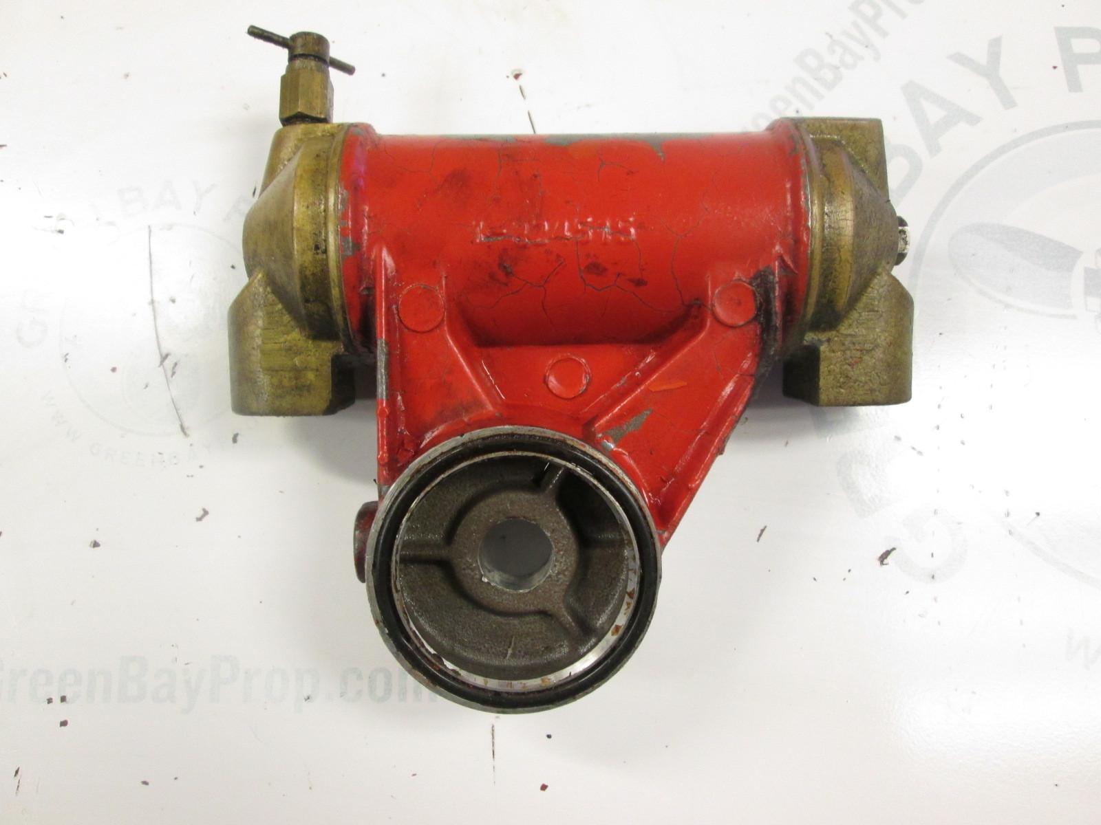 824513 6 Volvo Penta Stern Drive Oil Cooler 824513 Green border=
