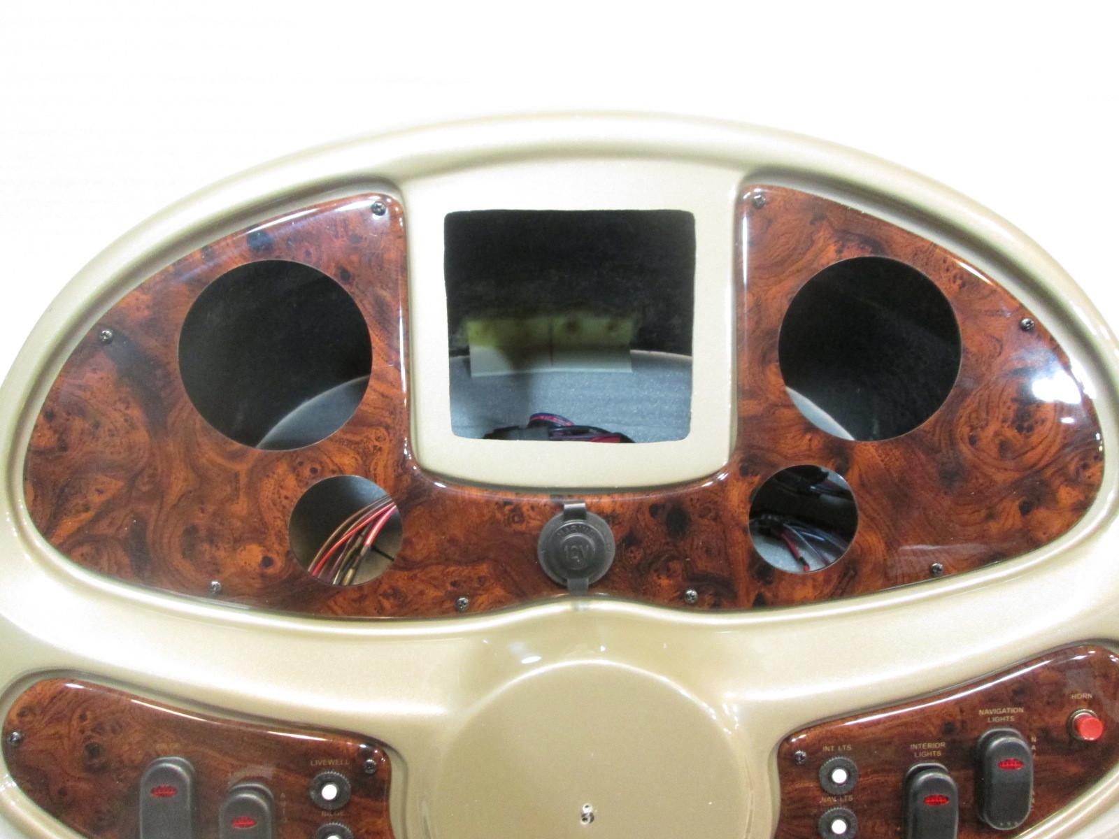 Boat Instrument Panel : Boat center console top cover helm dash pontoon gauge