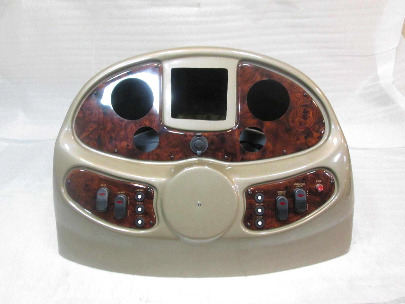 Boat Instrument Panel : Bronze voyager pontoon boat instrument cluster console