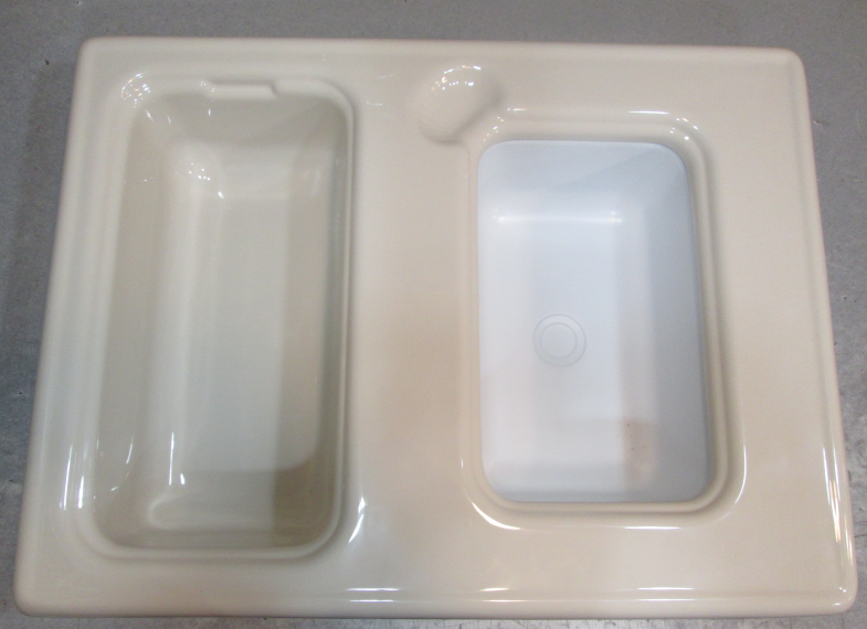 Almond Colored Custom Fiberglass Sink For Voyager Pontoon Boats ...
