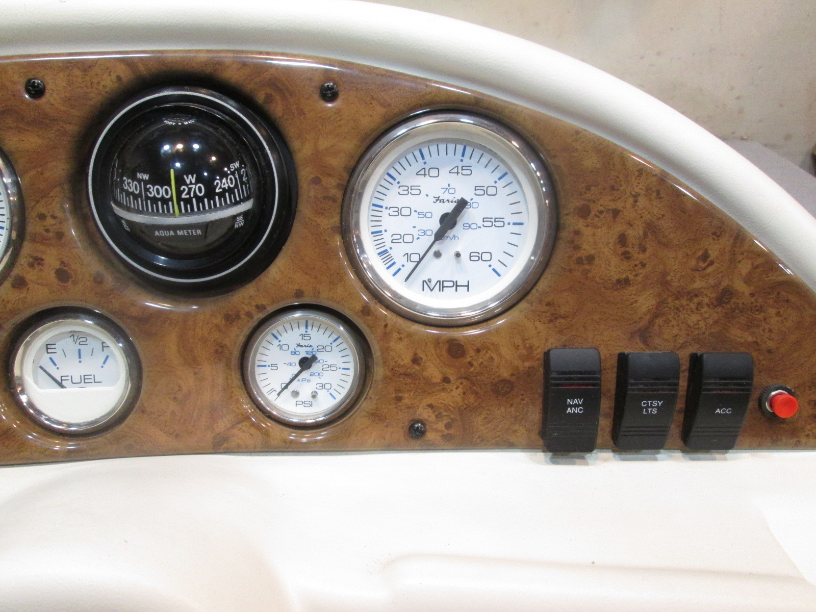 Boat Instrument Panel : Off white voyager pontoon boat instrument cluster console