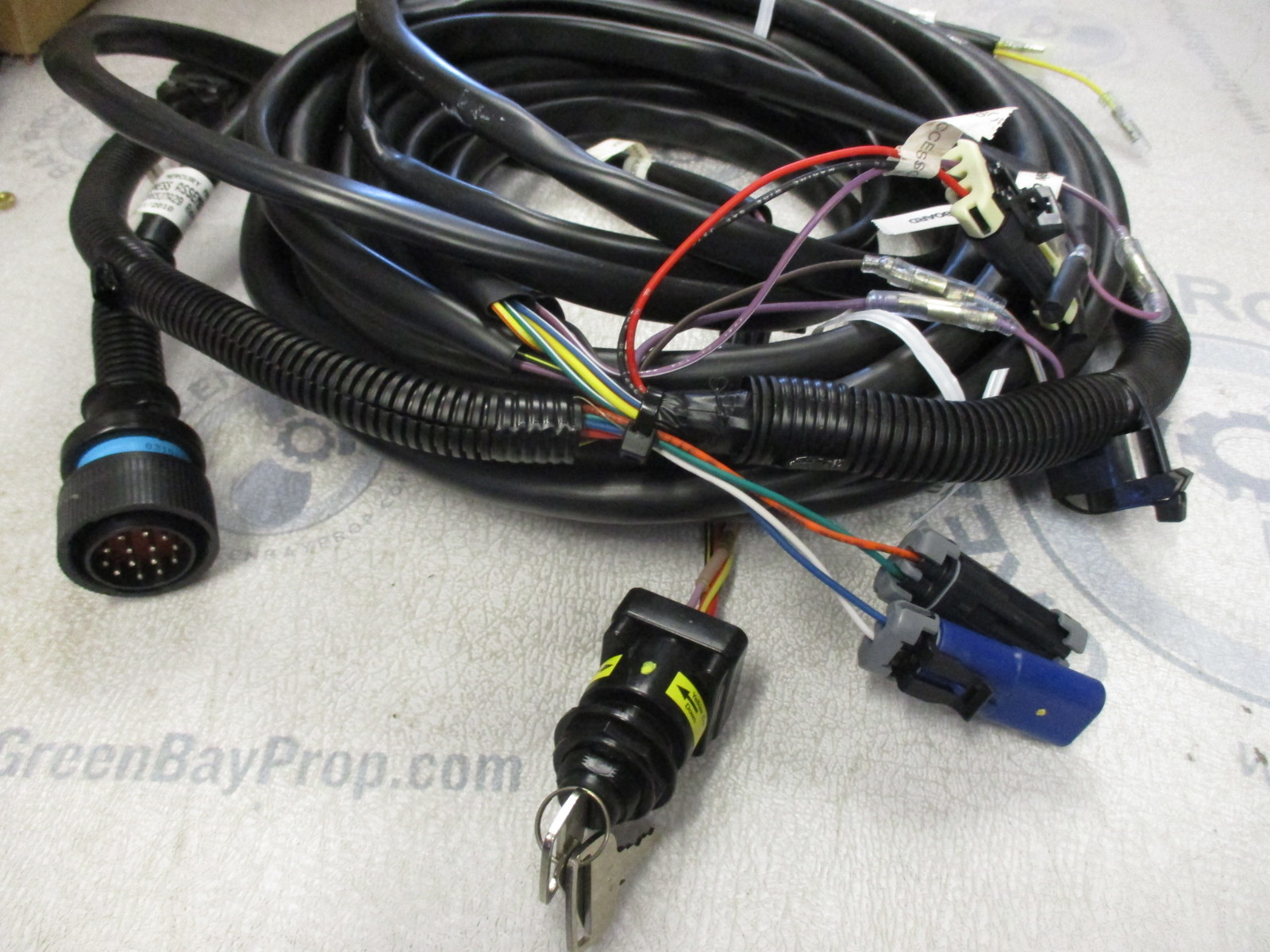 Mercury Marine Wiring Harness Real Diagram Outboard Internal 84 896537k29 29 Ft Wire And Key