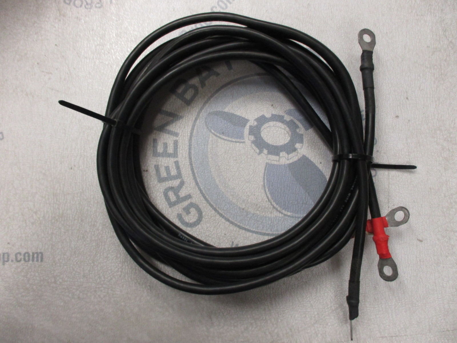 Boat Battery Cables : New marine boat battery cable cables wire black red