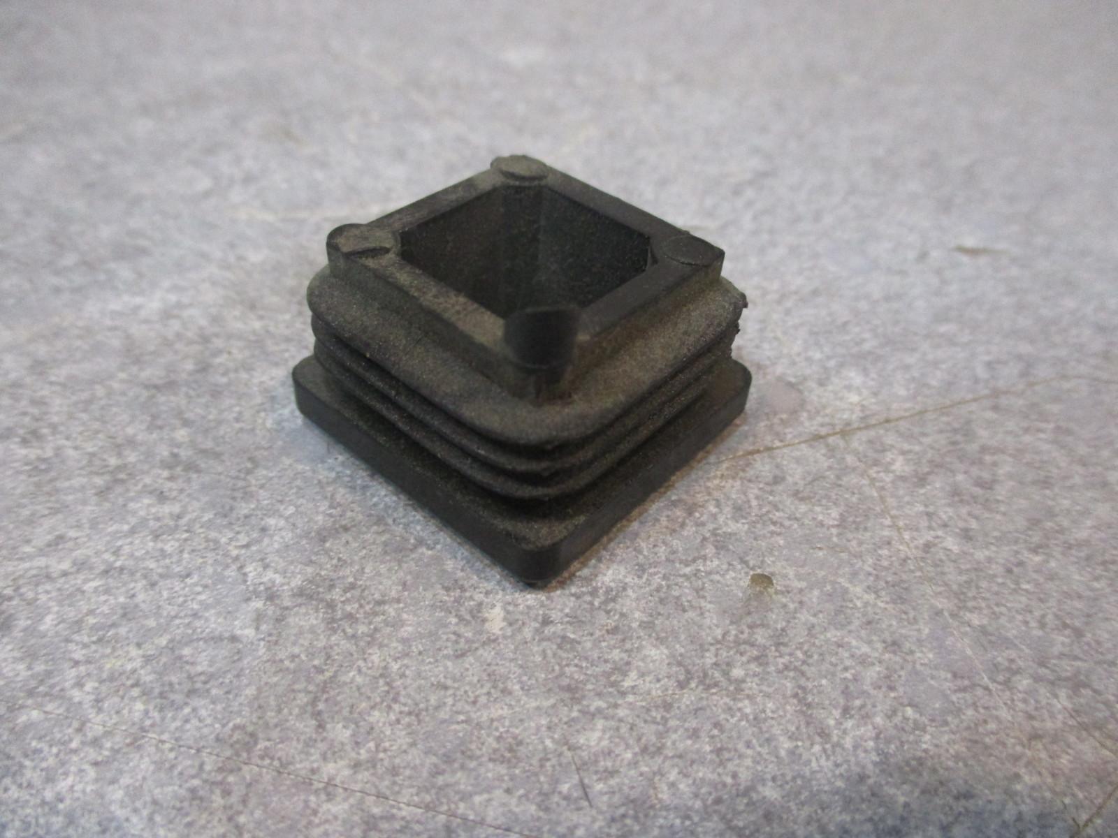 Quot black plastic square tubing plug end cap ga