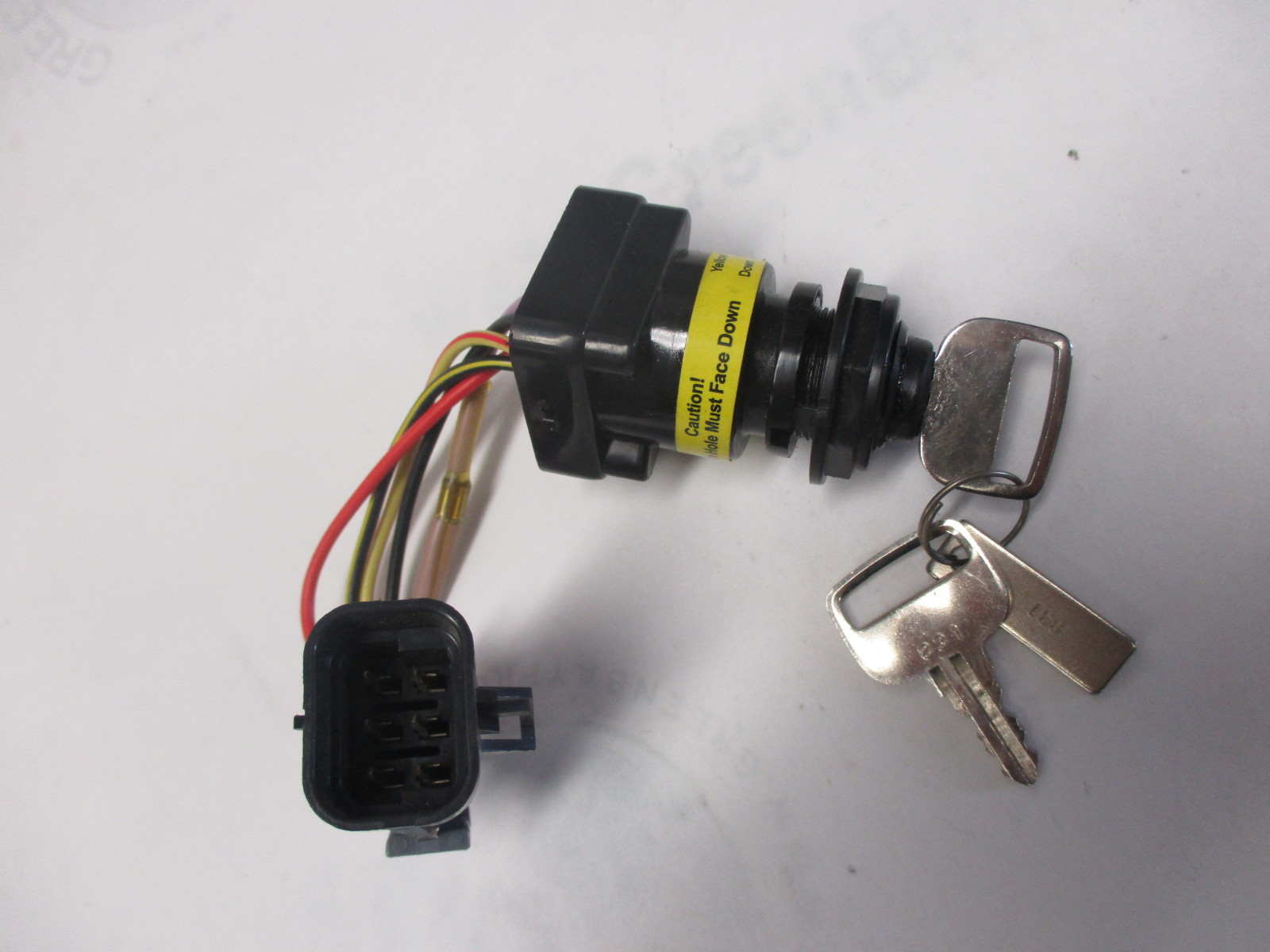 gb492016179 mercury marine outboard boat ignition switch and key 2006 and newer 6 wire pin 214716835 87 897716k01 mercury marine outboard boat ignition switch and key