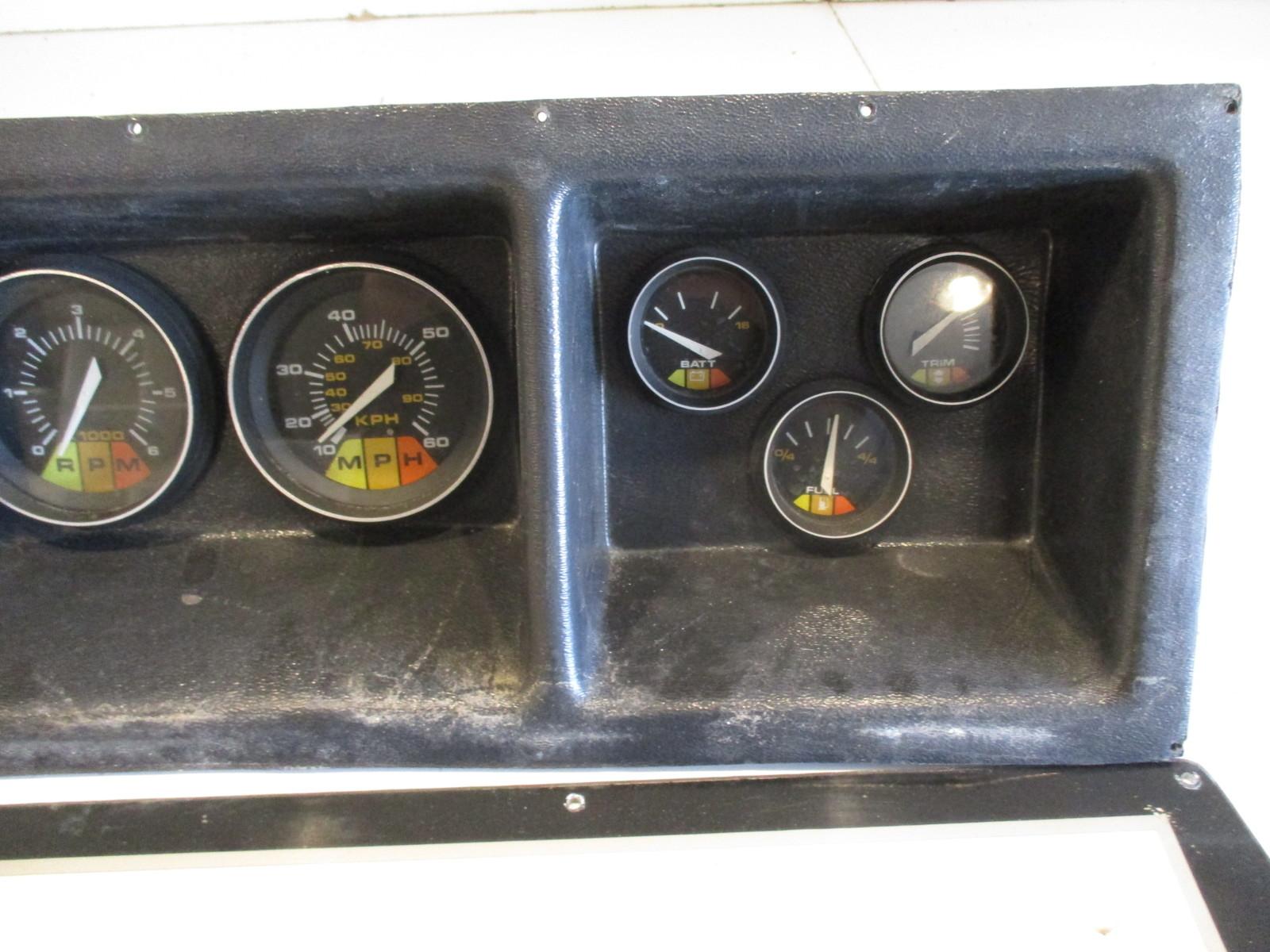 Boat Instrument Panel : Regal empress xl boat dash panel gauges instrument