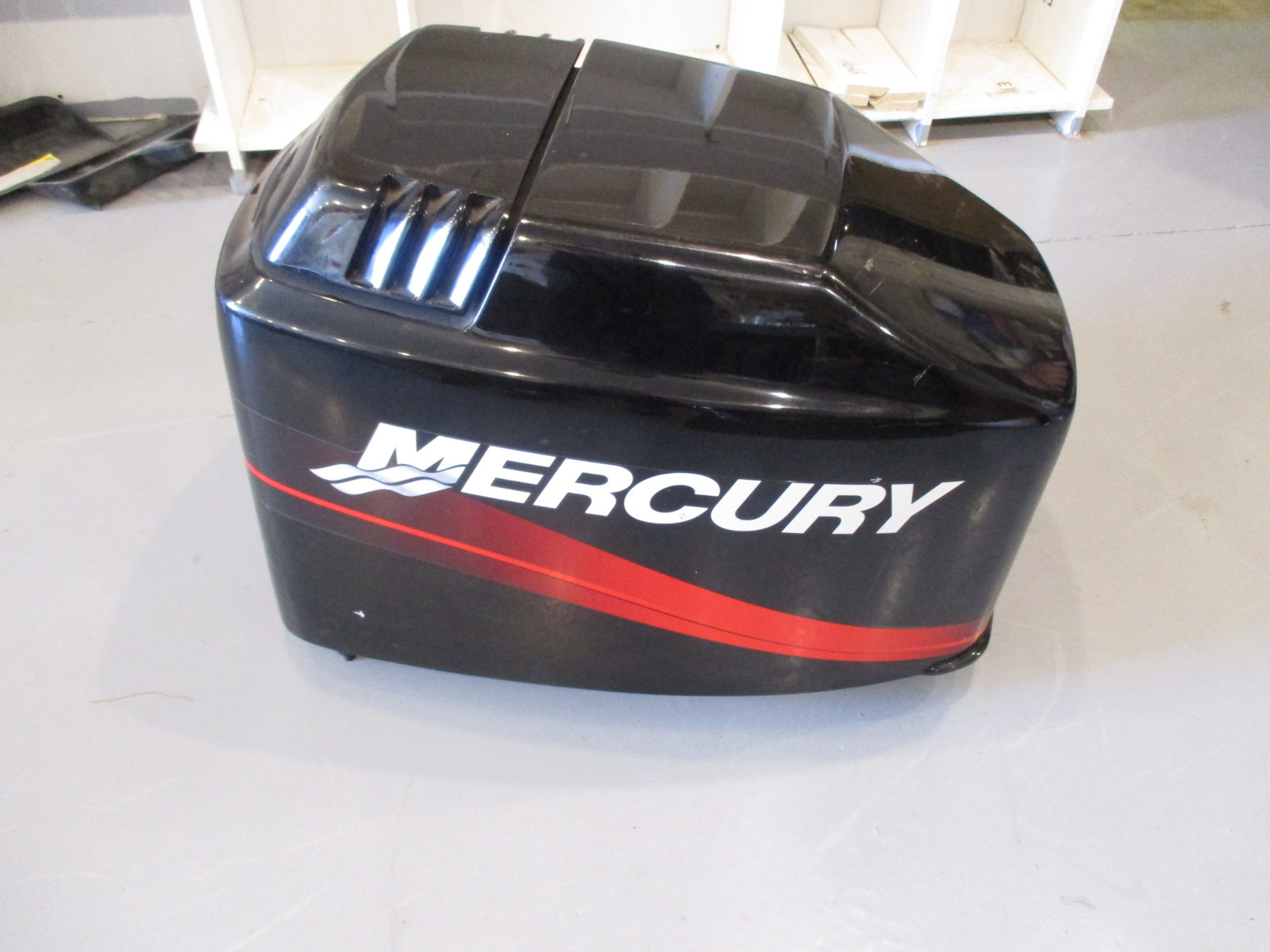 4021 827328t7 mercury 135 hp outboard top cowling engine for Mercury outboard motor cowling