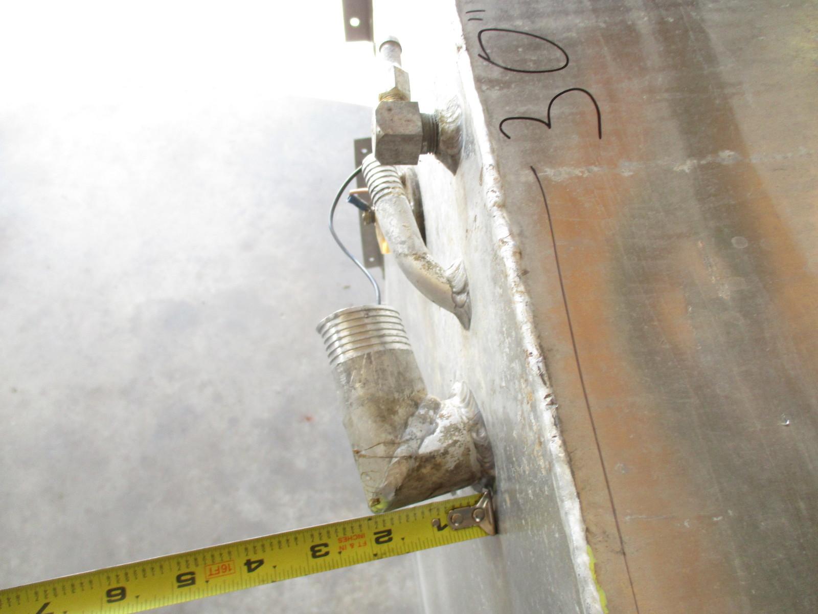 aluminum boat gas tank gallon x x inches