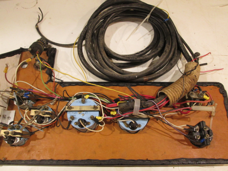 1978 Sea Ray 20\' Boat Dash Panel, Gauges, And Main Wire Harness ...