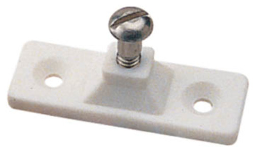 11722 Taylor Made Bimini Top Side Mount Nylon White Deck Hinge