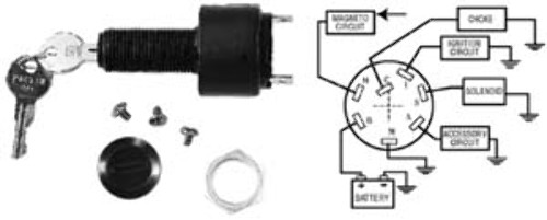 sierra boat electronic ignition switch 3 pos 6 term off. Black Bedroom Furniture Sets. Home Design Ideas