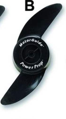 Motorguide 2 blade ninja power trolling motor prop 3 5 for Aftermarket trolling motor props