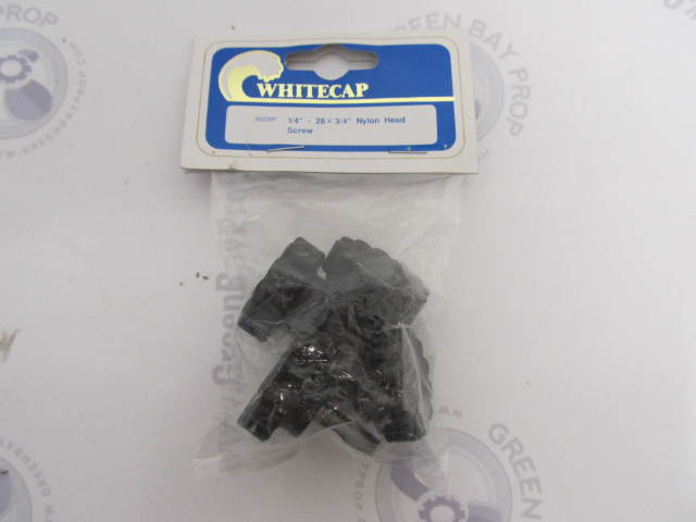 3523BP Whitecap Marine Bimini Top Fittings Nylon Head Screw, 1/4-28 x 3/4""