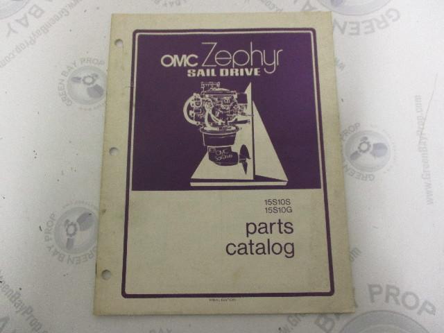 388417 OMC Zephyr Sail Drive Parts Catalog 15S10S 15310G 1977