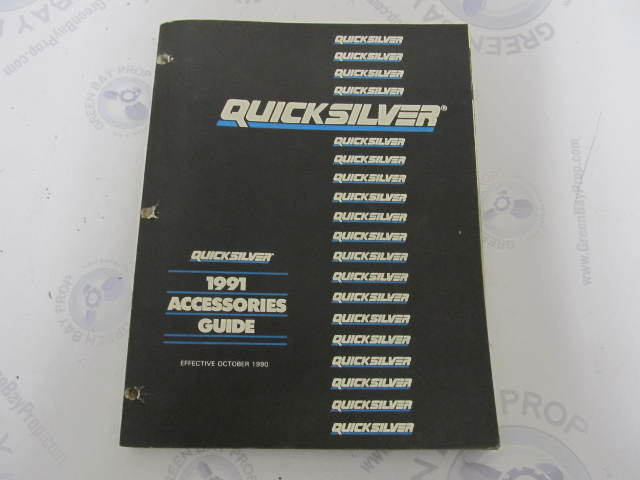 4200091 Quicksilver Mercury Marine Accessories Parts Catalog Guide 1991