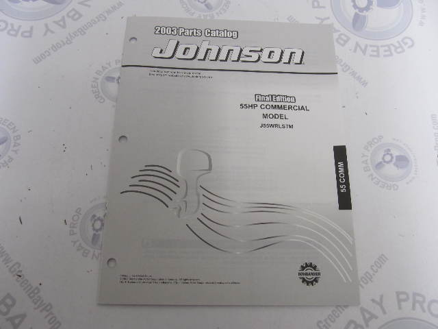 5005324 OMC BRP Johnson 55 HP COMM Outboard Parts Catalog 2003
