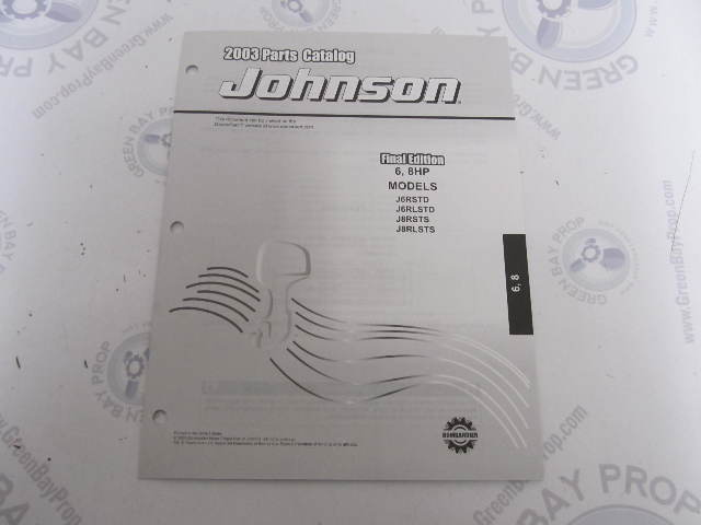 5005329 OMC BRP Johnson 6-8 HP Outboard Parts Catalog 2003