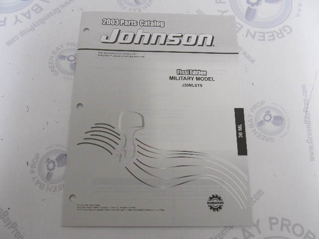 5005633 OMC BRP Johnson 30 HP ML Outboard Parts Catalog 2003