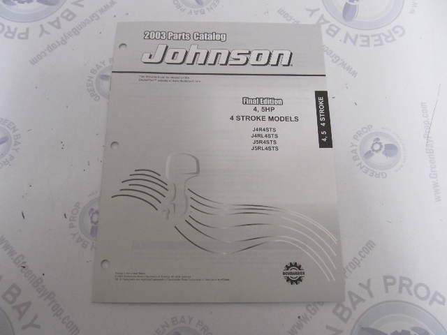 5033317 OMC BRP Johnson 4-5 HP 4-Stroke Outboard Parts Catalog 2003