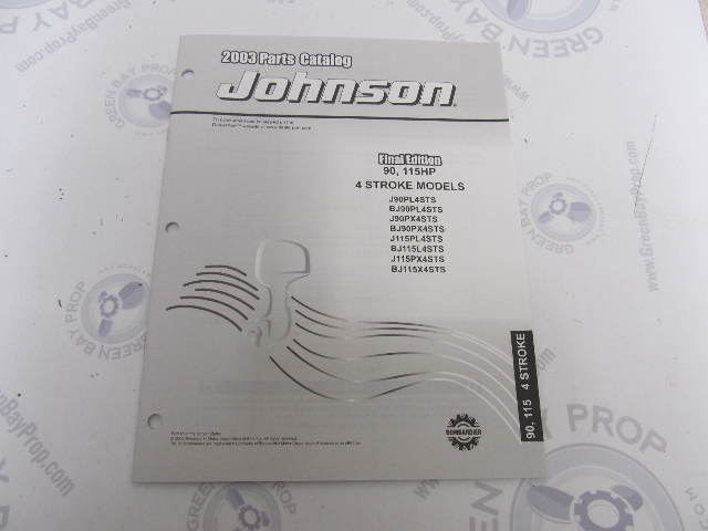 5033321 OMC BRP Johnson 90-115 HP 4-Stroke Outboard Parts Catalog 2003