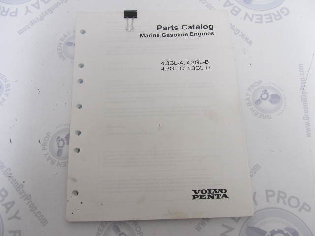 7744270 2003 Used Volvo Penta Stern Drive Parts Catalog 4.3 GL