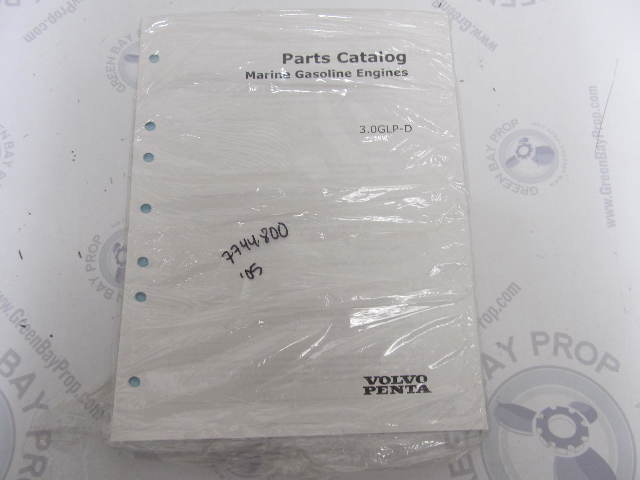 7744800 2005 Volvo Penta Marine Gasoline Engine Parts Catalog 3.0L GLP-D