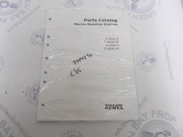 7744830 2005 Volvo Penta Parts Catalog 5.0L Marine Gasoline Engines