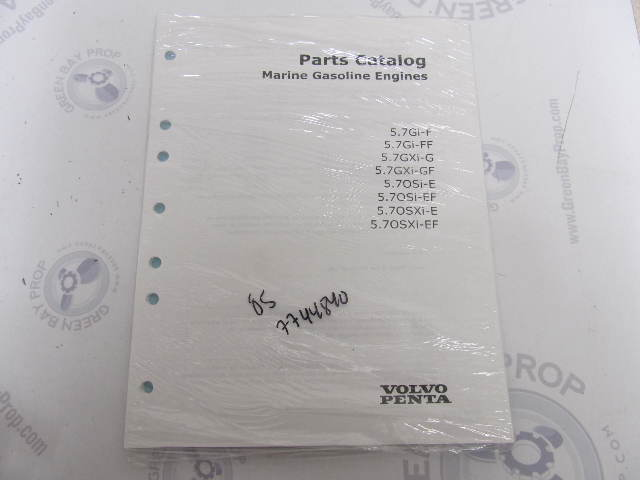 7744840 2005 Volvo Penta Parts Catalog 5.7L Marine Gasoline Engines
