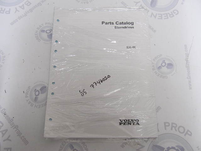 7746020 2005 New Volvo Penta Stern Drive Parts Catalog SX-M