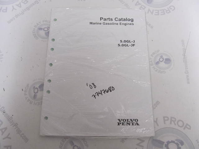 7747680 2008 Volvo Penta Marine Gasoline Engine Parts Catalog 5.0L GL-J, JF