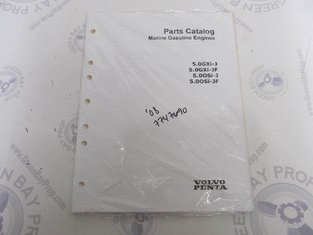 7747690 2008 Volvo Penta Marine Gasoline Engine Parts Catalog 5.0L GXI OSI