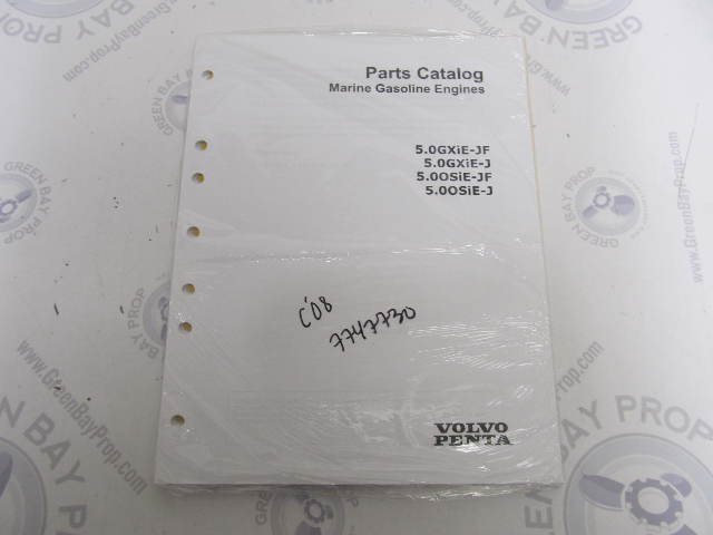 7747730 2008 Volvo Penta Marine Gasoline Engine Parts Catalog 5.0L GXIE OSIE