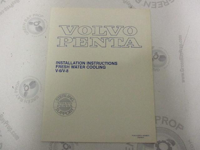 7793760-5 Volvo Penta V-8 Fresh Water Cooling Installation Instructions 1984