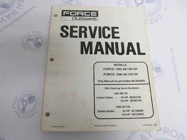 wiring diagram switch box 1995 120 hp force wiring outboard repair manuals green bay propeller marine llc on wiring diagram switch box 1995 120 hp