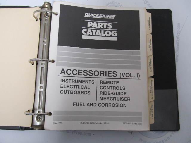 90-41573 Quicksilver Mercury Marine Accessories Parts Catalog Volume 1